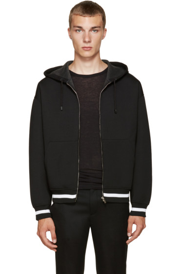 Calvin Klein Collection - Black Makey Zip-Up Hoodie