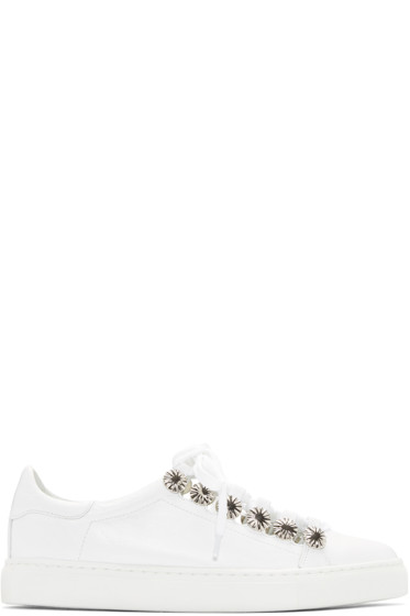Toga Pulla - White Open Lace Sneakers