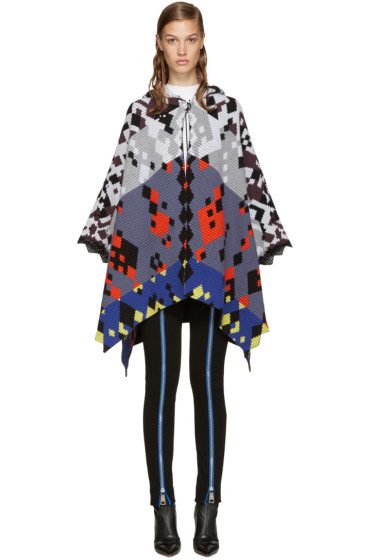 Peter Pilotto - Multicolor Jacquard Cape