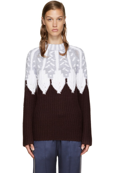 Peter Pilotto - Burgundy Icelandic Sweater