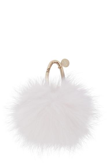 Yves Salomon - Off-White Fur Keychain