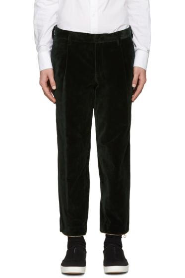Kolor - Green Velvet Trousers