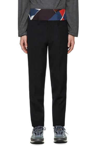 Kolor - Navy Wool Trousers