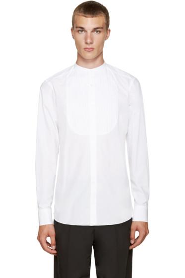 Kolor - White Band Collar Shirt