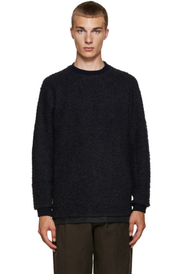Kolor - Navy Textured Pullover
