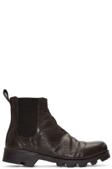 Christian Peau - Black CP Side Gore Stair Chelsea Boots