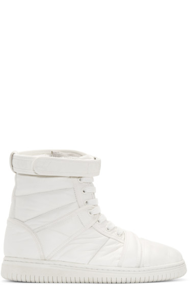 Christian Peau - White CP MT Zip High-Top Sneakers