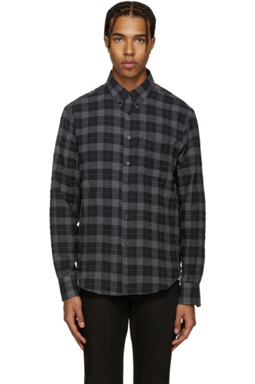 Naked & Famous Denim - Grey Plaid Flannel Shirt