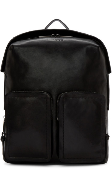 Jimmy Choo - Black Leather Backpack