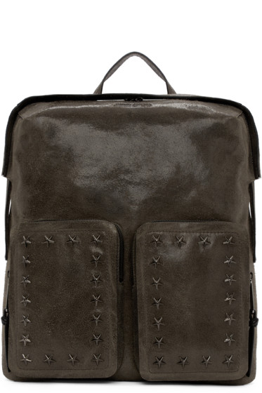 Jimmy Choo - Grey Suede Lennox Backpack