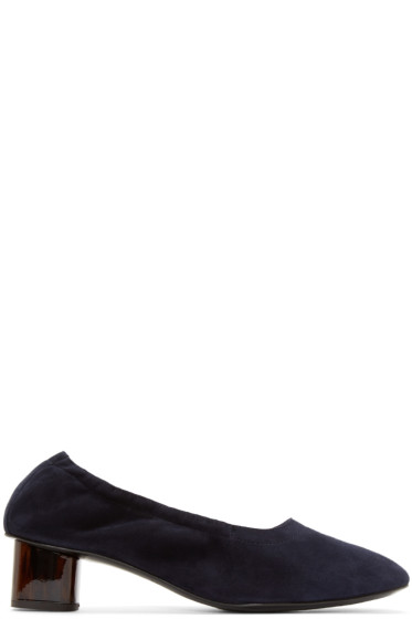Robert Clergerie - Navy Suede Pocket Heels