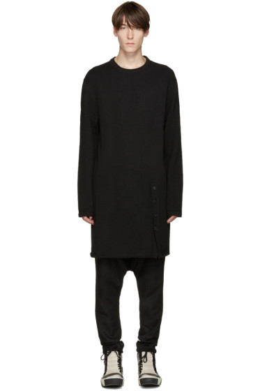 D.Gnak by Kang.D - Black Long Knit Pullover