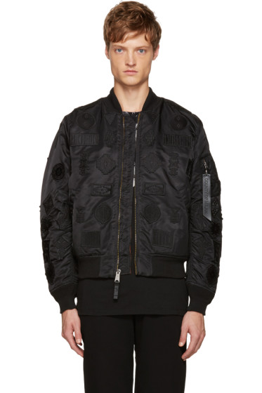 Marcelo Burlon County of Milan - Black Alpha Industries Edition MA-1 Bomber Jacket