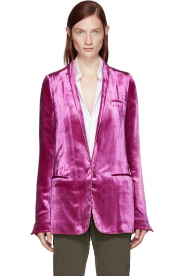 Haider Ackermann - Pink Velvet Blazer