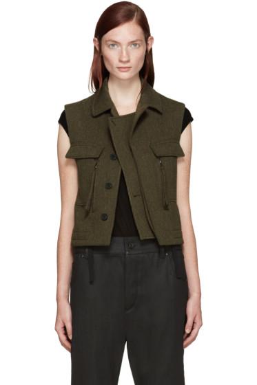 Haider Ackermann - Khaki Wool Vest