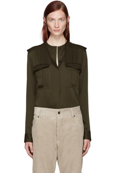 Haider Ackermann - Green Satin Shirt