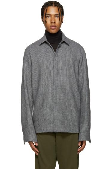 Haider Ackermann - Grey Wool Houndstooth Shirt