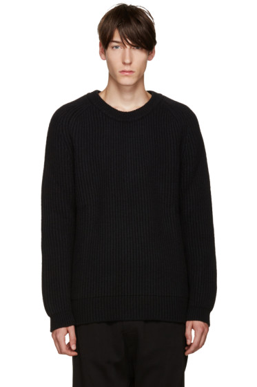 Haider Ackermann - Black Ribbed Crewneck