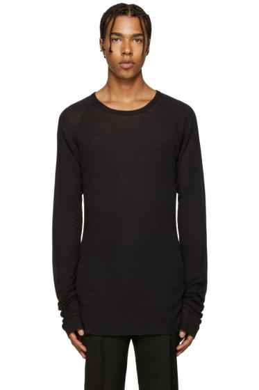Haider Ackermann - Black Ribbed T-Shirt