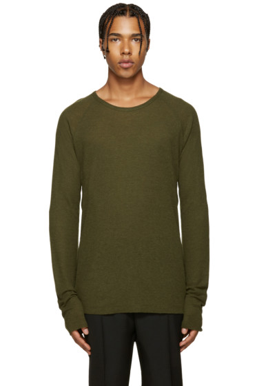 Haider Ackermann - Green Ribbed T-Shirt