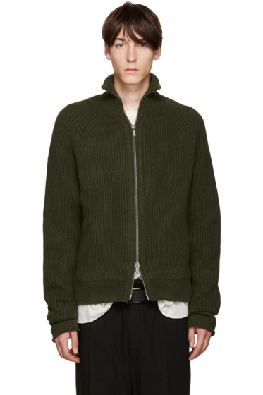 Haider Ackermann - Green Zip Cardigan