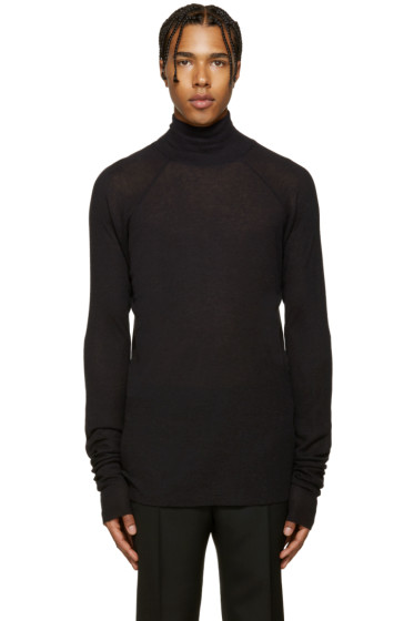 Haider Ackermann - Black Ribbed Turtleneck