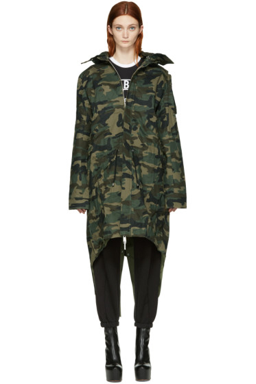 Hood by Air - Green Camo Uniform Parka