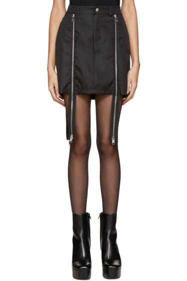 Hood by Air - Black Double-Zip Sup Luc Skirt