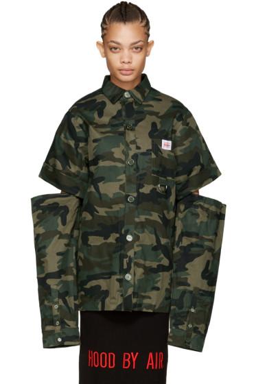 Hood by Air - Green Camo Uniform Fractured Shirt