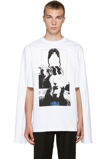 Hood by Air - White Montgomery Graduation T-Shirt