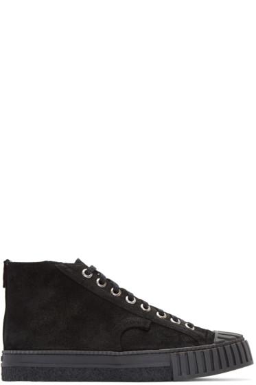 Adieu - Black Suede Type W.O. High-Top Sneakers