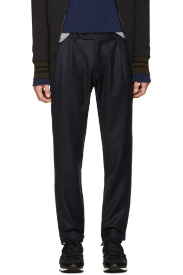 Giuliano Fujiwara - Navy Wool Loose Trousers