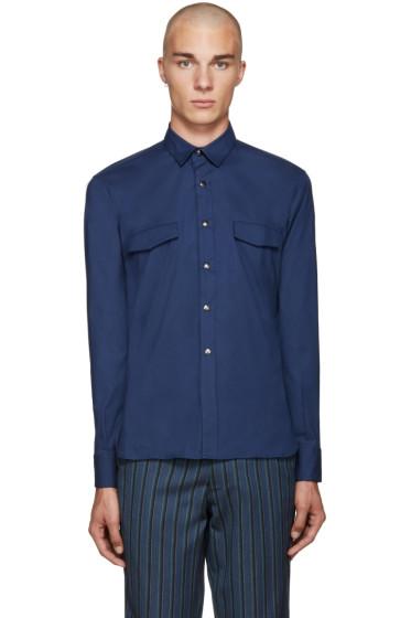 Giuliano Fujiwara - Navy Pockets Shirt