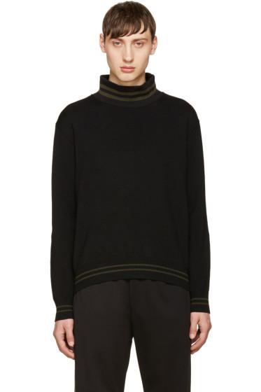Giuliano Fujiwara - Black Merino Striped Sweater