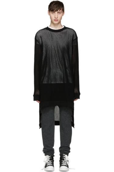 Miharayasuhiro - Black Mesh Jersey Pullover