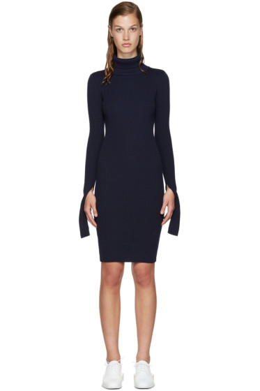 Jacquemus - Navy Knit Turtleneck Dress
