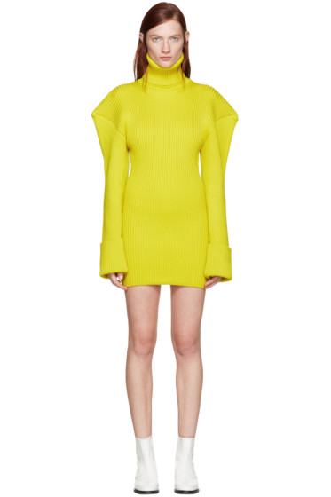 Jacquemus - Yellow Giant Shoulder Dress