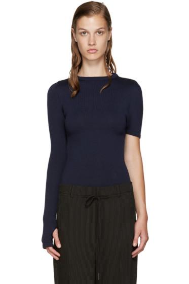 Jacquemus - Navy Single Sleeve Sweater