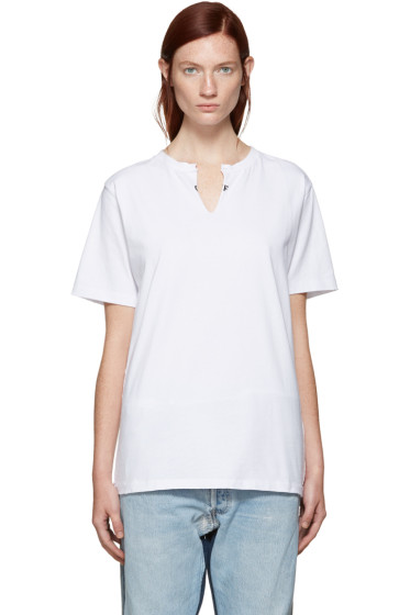 001 Levi's Made & Crafted c/o Off-White - SSENSE Exclusive White Crew Cut T-Shirt