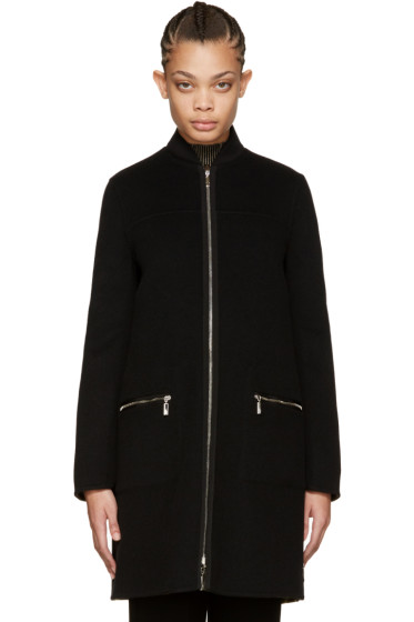 Moncler Gamme Rouge - Reversible Black Layered Jasmine Coat