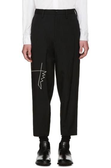 Yohji Yamamoto - Black Embroidered Trousers