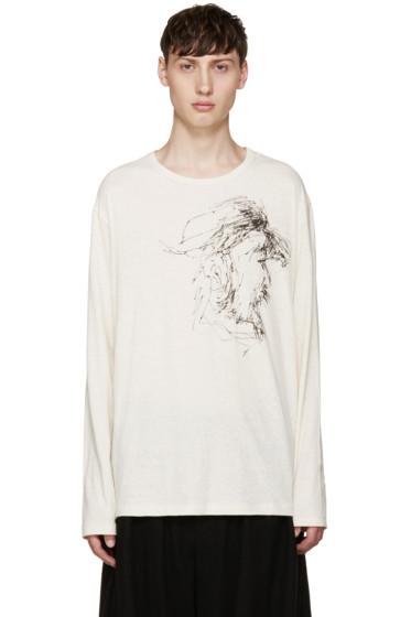 Yohji Yamamoto - Beige Yohji Face T-Shirt