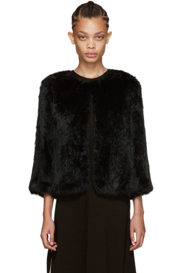 Yves Salomon - Black Knit Fur Jacket