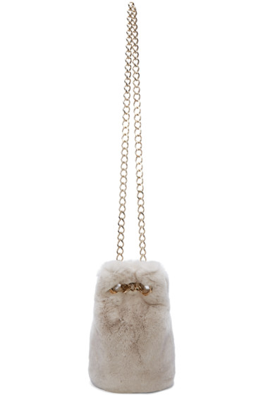 Yves Salomon - Grey Fur Bucket Bag