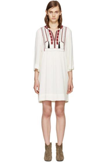 Isabel Marant Etoile - Ecru Embroidered Clara Dress