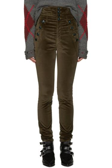Isabel Marant - Brown Velvet Noe Trousers