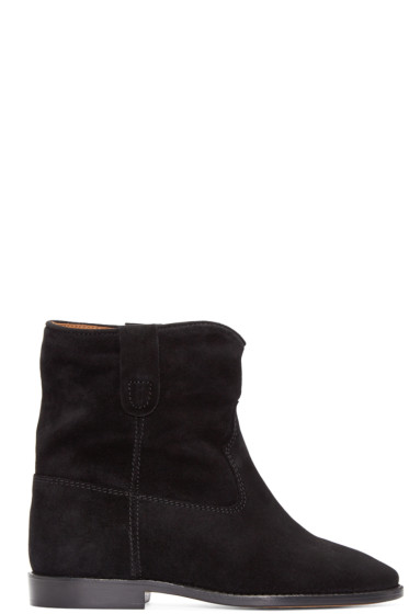 Isabel Marant - Black Suede Crisi Boots