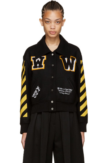 Off-White - Black Varsity Jacket
