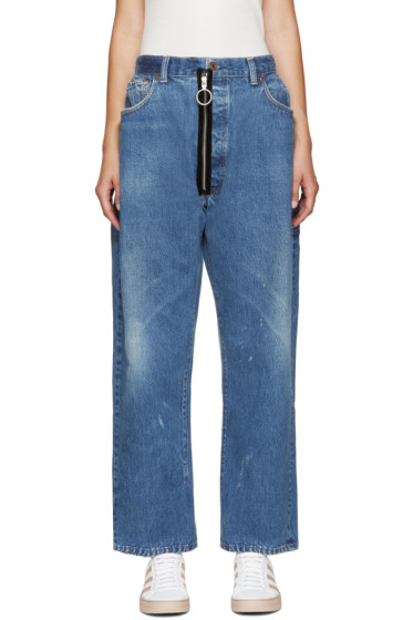 Off-White - Blue Levi's Edition Zippered Jeans