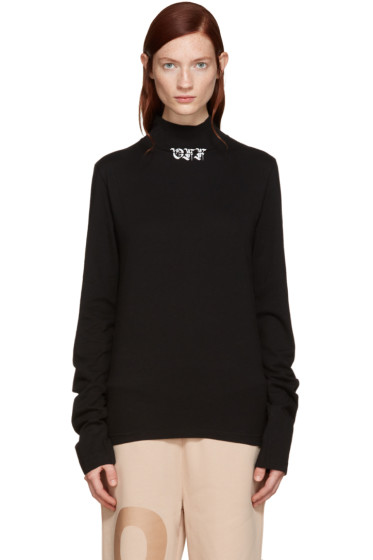 Off-White - Black Gothic 'Off' Turtleneck